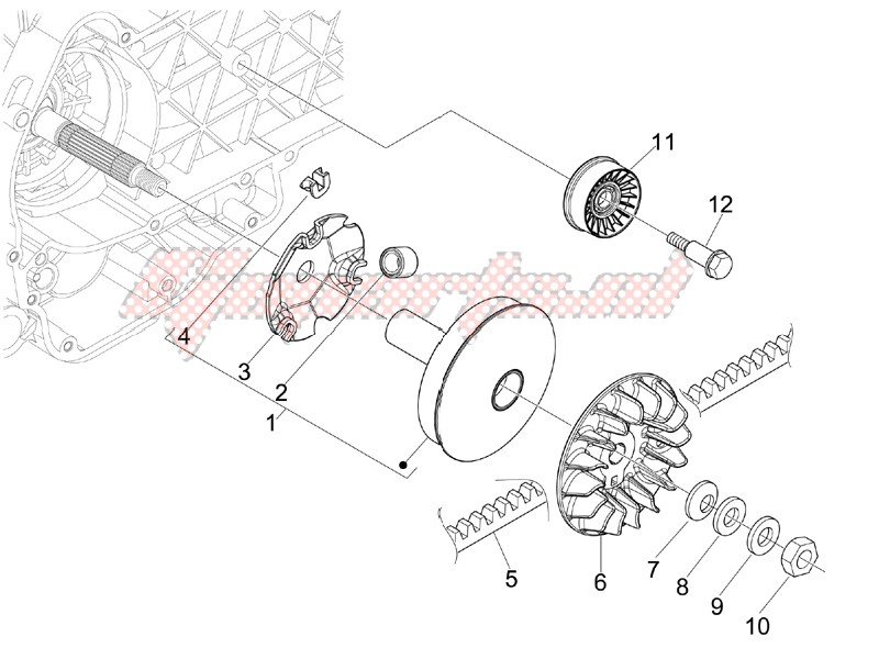 Engine-Driving pulley