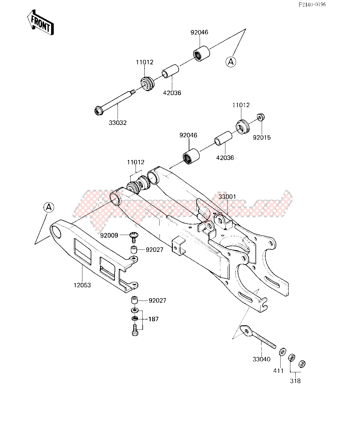 SWING ARM -- 85 A2- - image