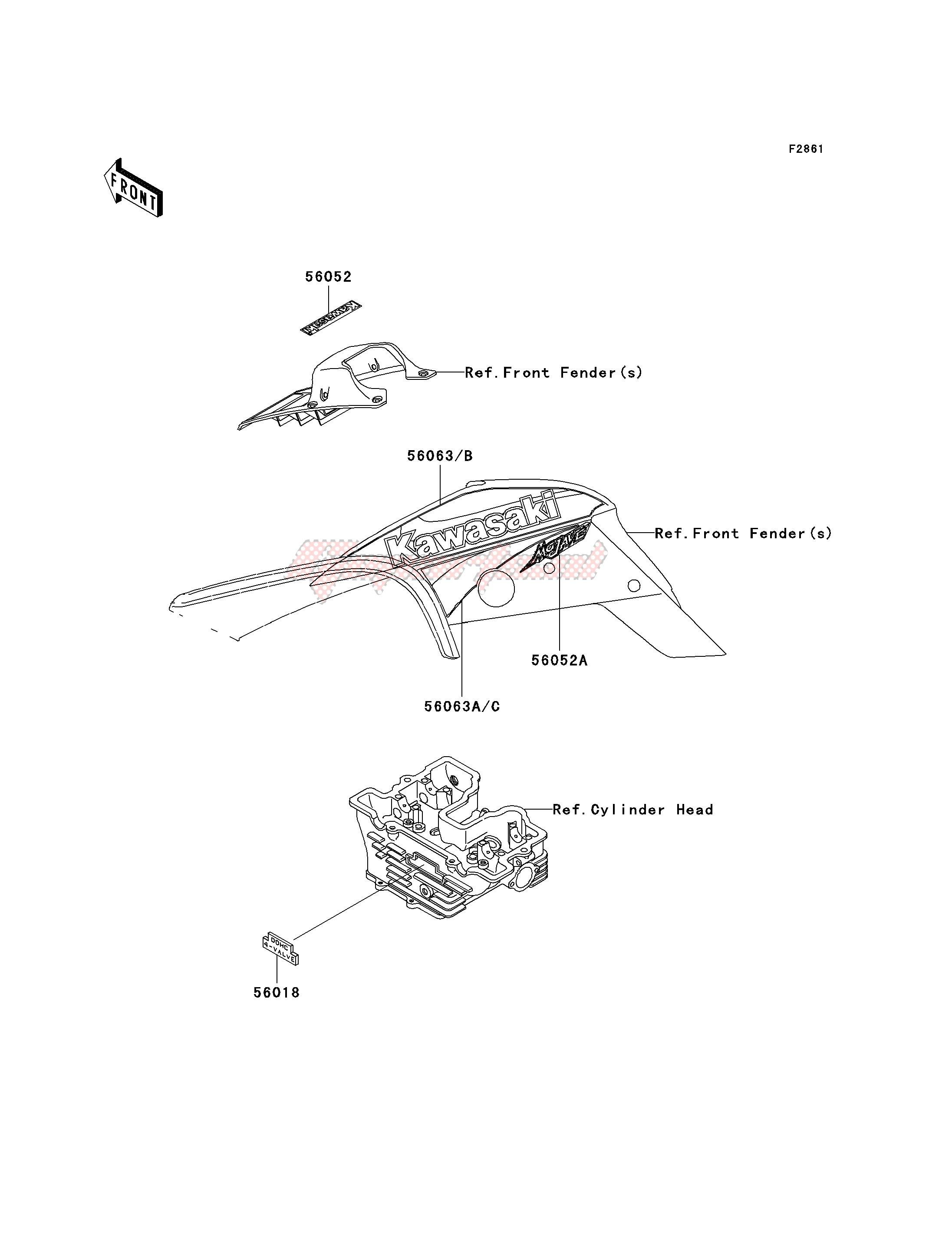 DECALS-- KSF250-A15- - image