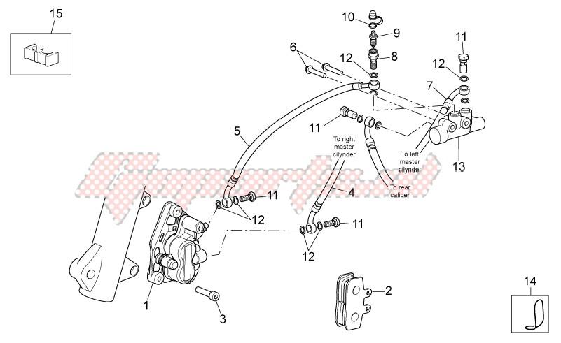 Front brake caliper image