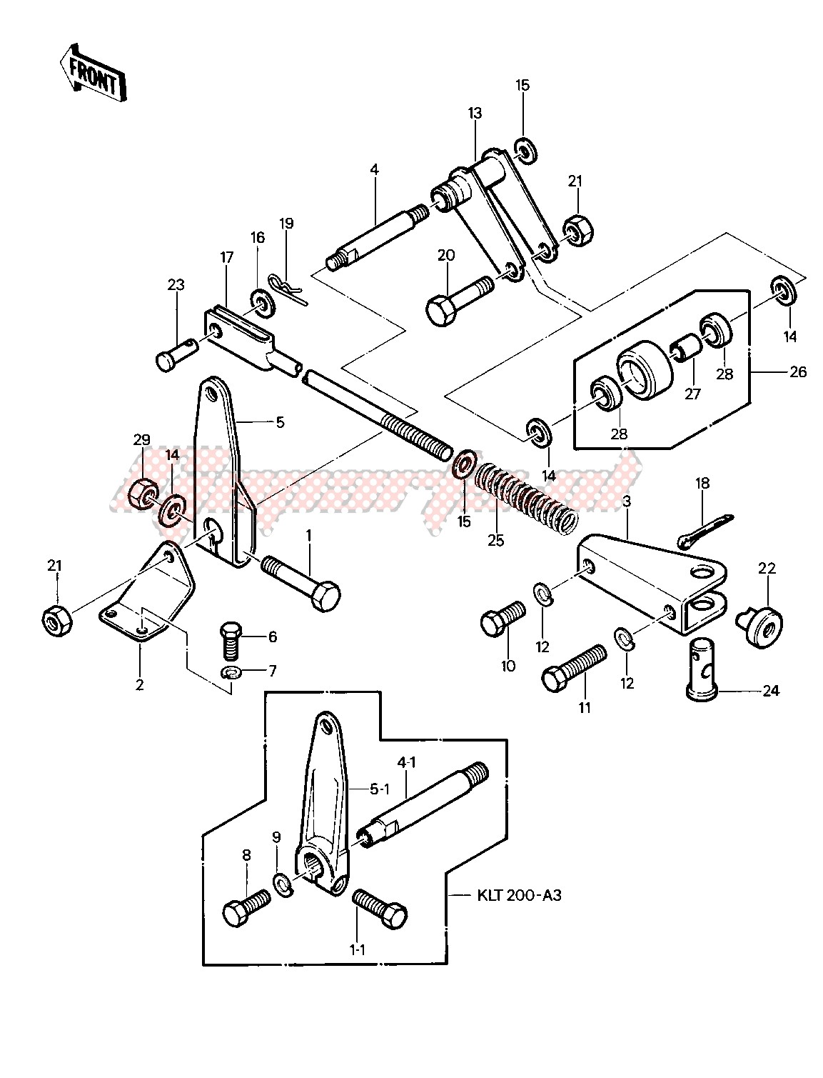 CHAIN TENSIONER -- 81-82 KLT200-A1_A2_A3- - image