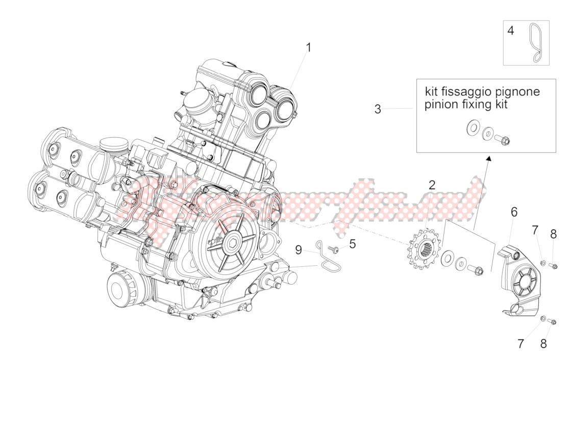 Engine-Completing part-Lever image