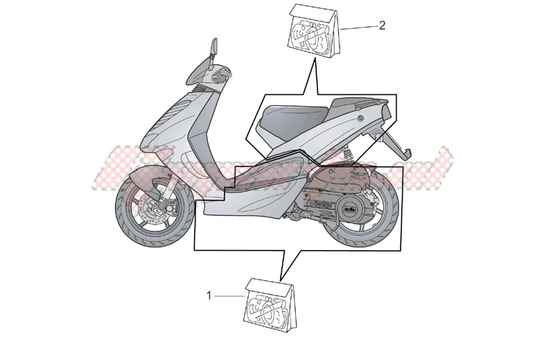 Frame-Central and rear body decal