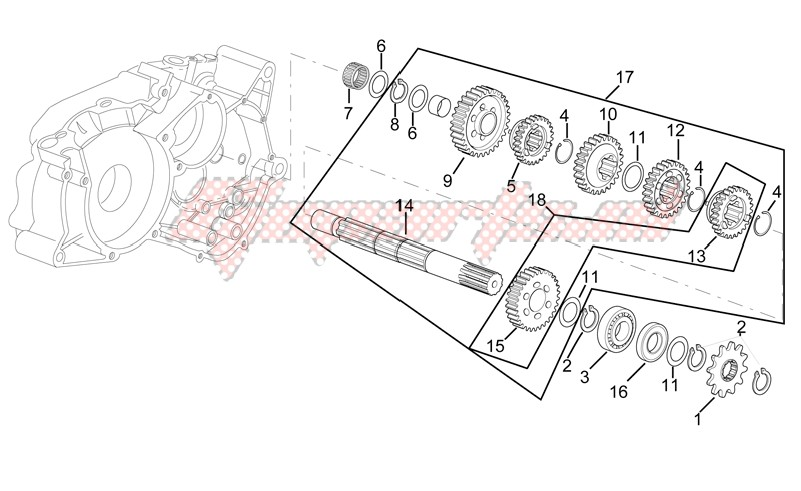 Engine-Gearbox driven shaft I