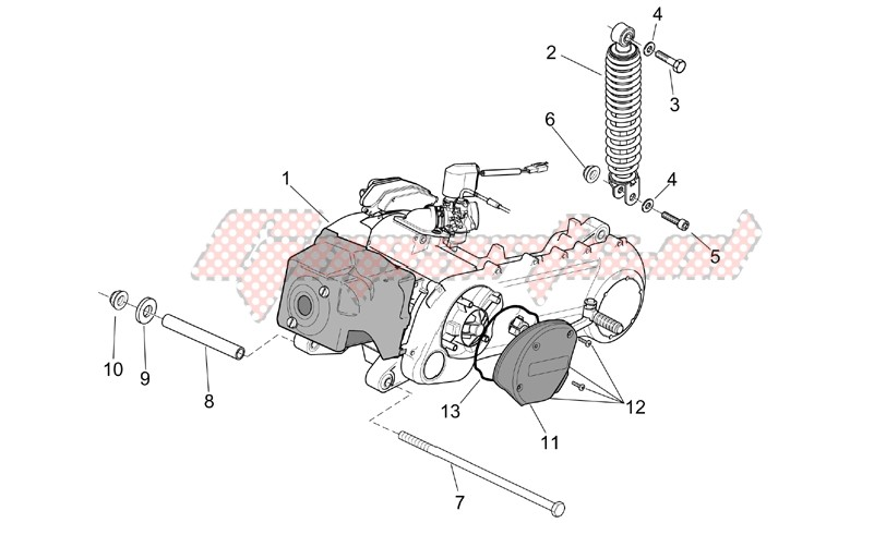 Suspensions - Wheels-Engine - rear shock absorber