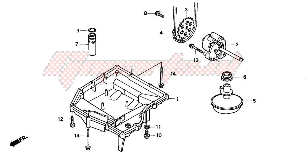 OIL PAN/OIL PUMP blueprint