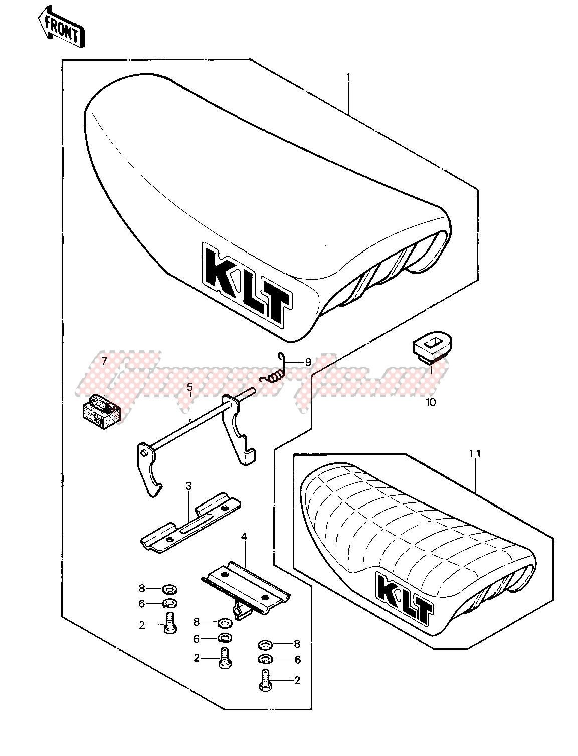 SEAT -- 81-82 KLT200-A1_A2_A3- - image