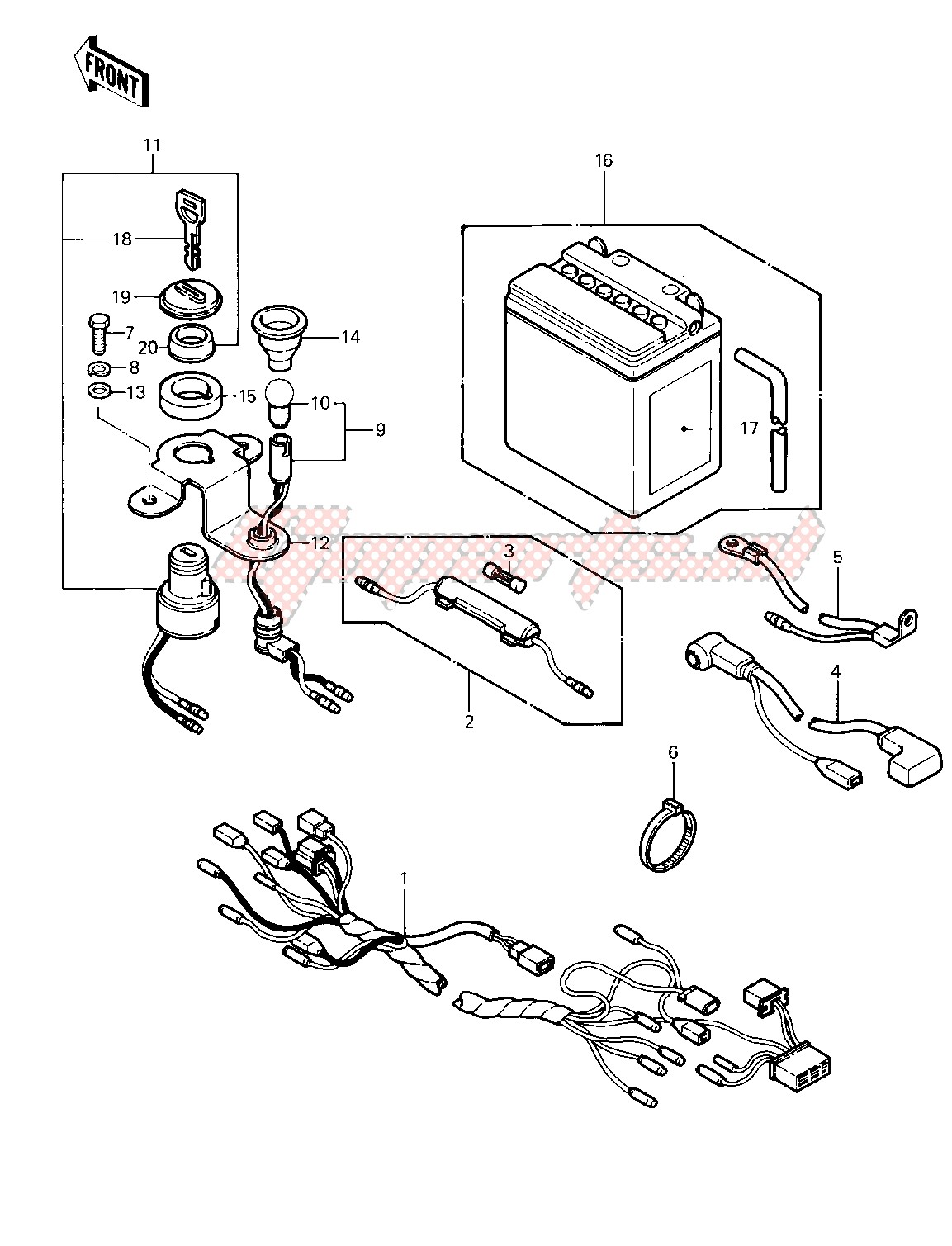 CHASSIS ELECTRICAL EQUIPMENT -- 83 KLT200-A4_A4A- - image