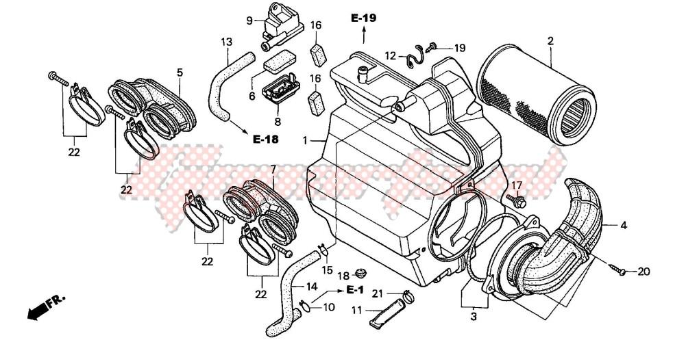AIR CLEANER (CB600F2/F22) blueprint