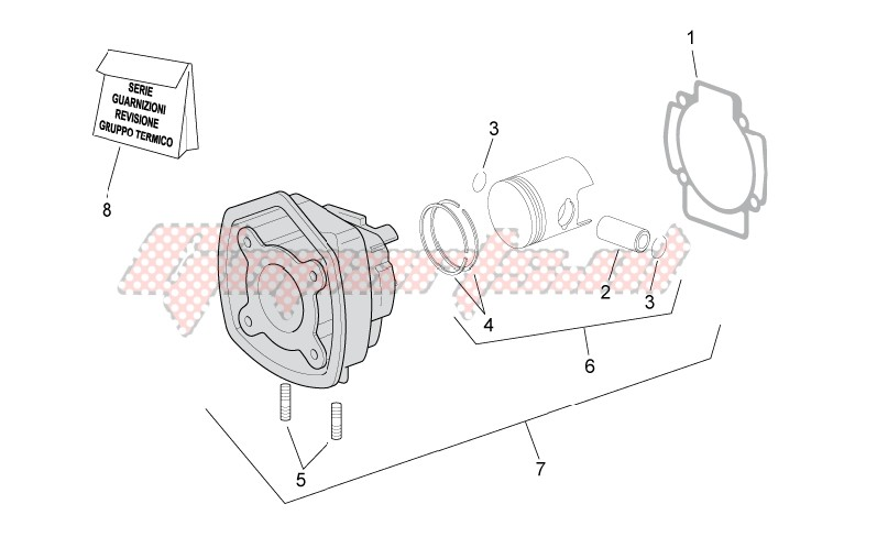 Cylinder with piston image