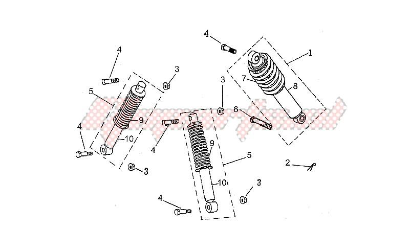 Front/rear shock absorber image