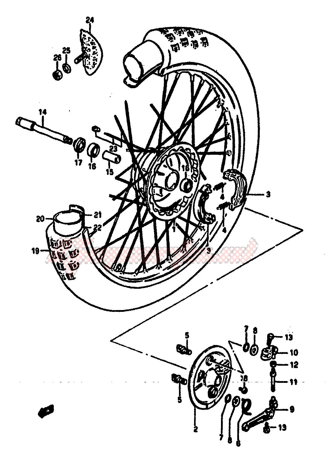 FRONT WHEEL (MODEL E) blueprint