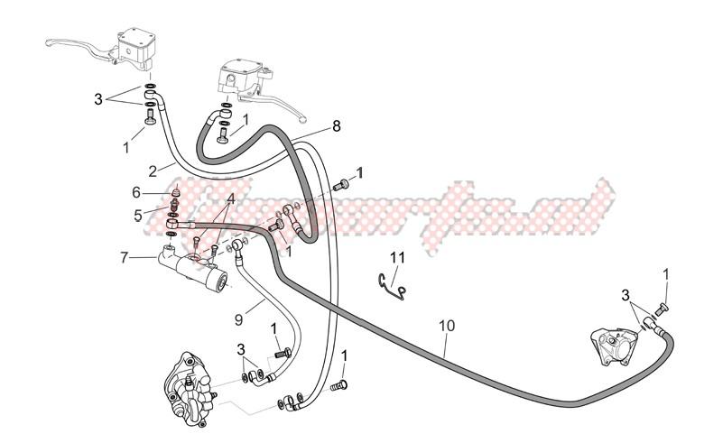 Front/rear brake system image