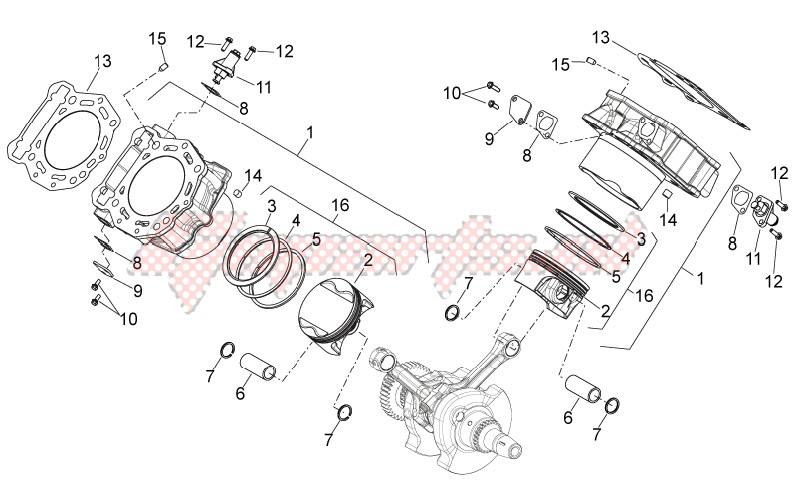 ENGINE-Cylinder with piston