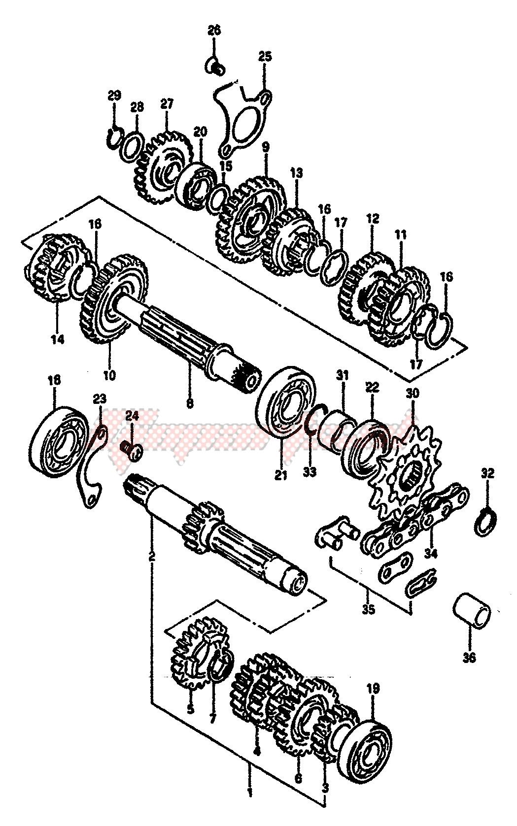 TRANSMISSION (MODEL E) blueprint