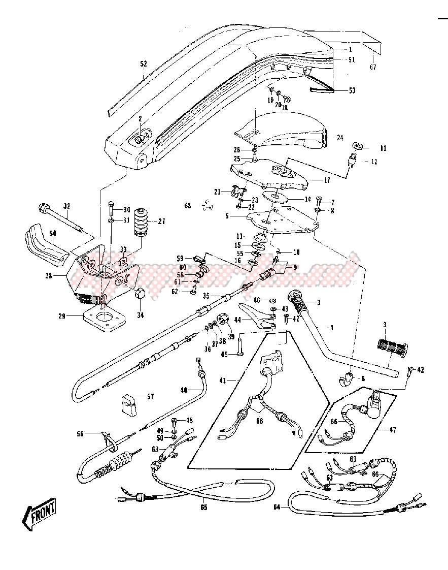 HANDLE POLE_CABLES -- JS440-A2- - image