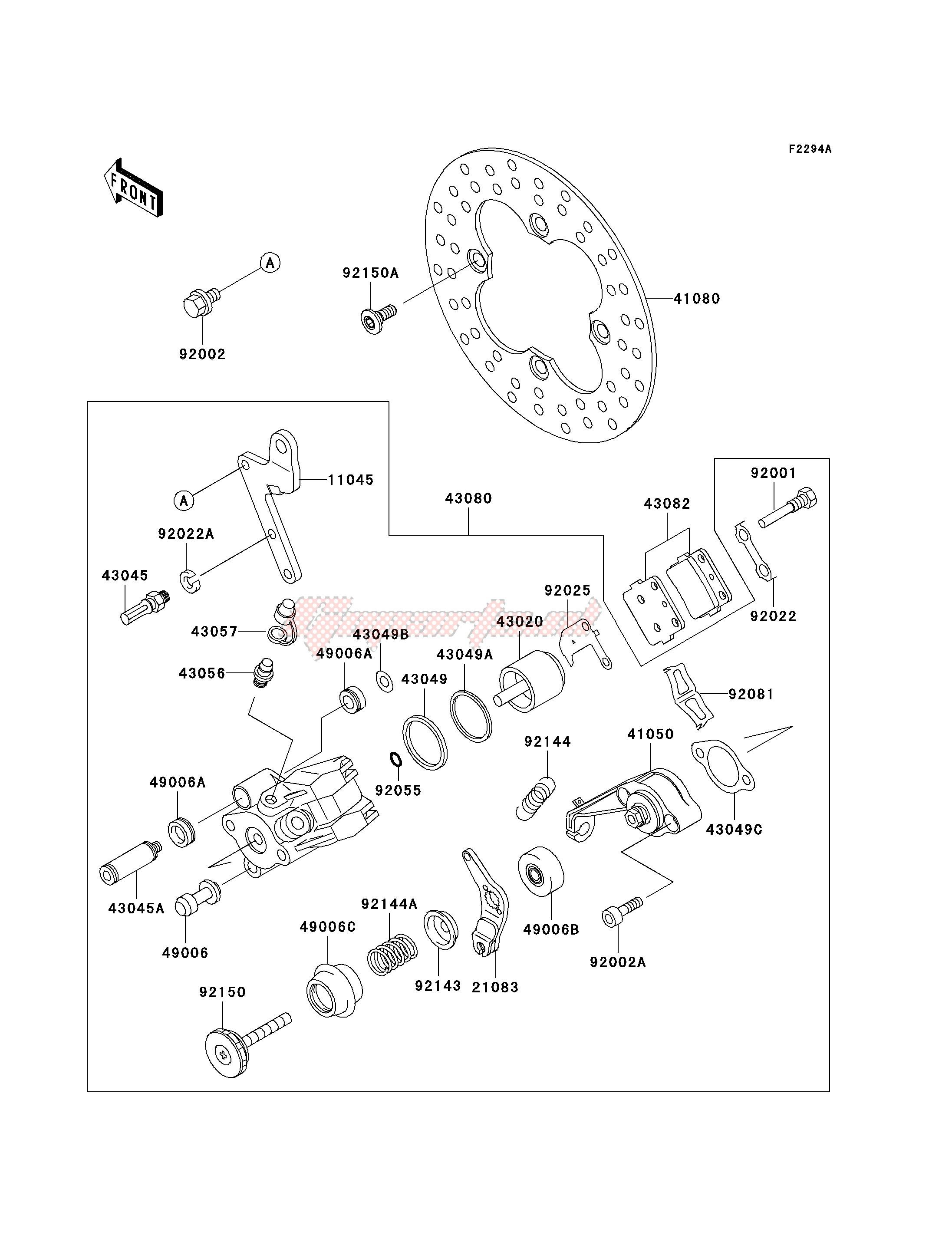 REAR BRAKE-- KSF250-A18- - image