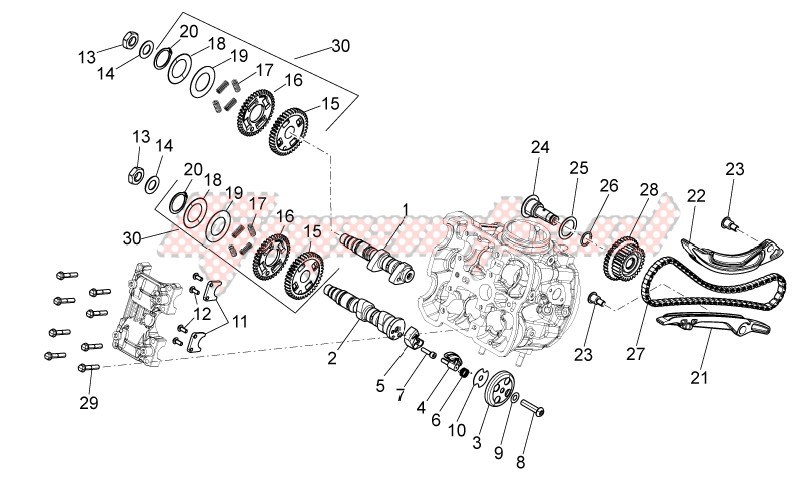 ENGINE-Front cylinder timing system