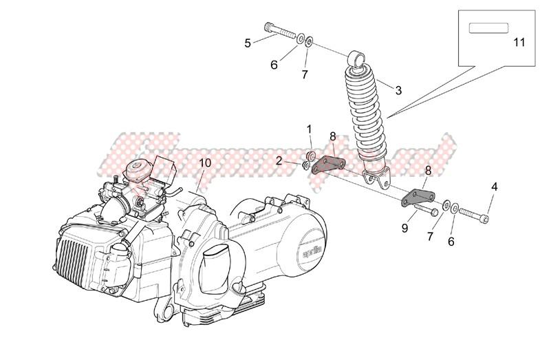 Engine - Rear shock absorber image