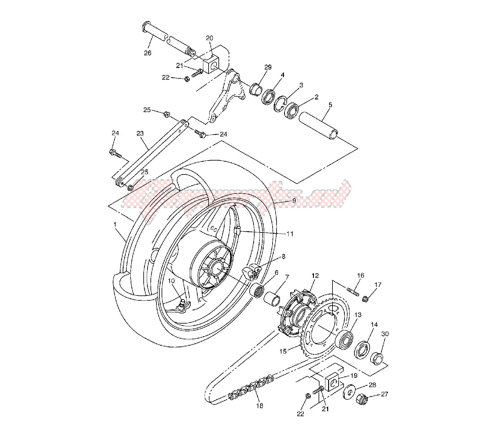 OEM parts Yamaha [Motorcycle] XV VIRAGO 1100 / 1996   Goparts