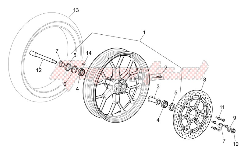 Suspensions - Wheels-Front wheel I