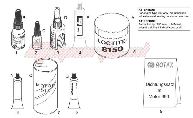 Service-Sealing and lubricating agents