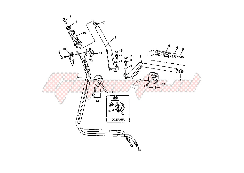 STEERING HANDLE -CABLE blueprint