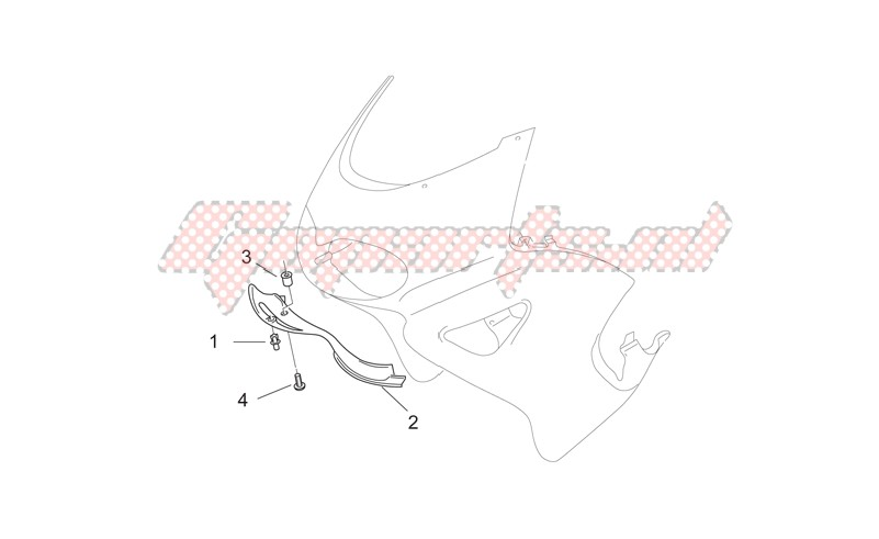 Frame-Front body - F.fairing air intake