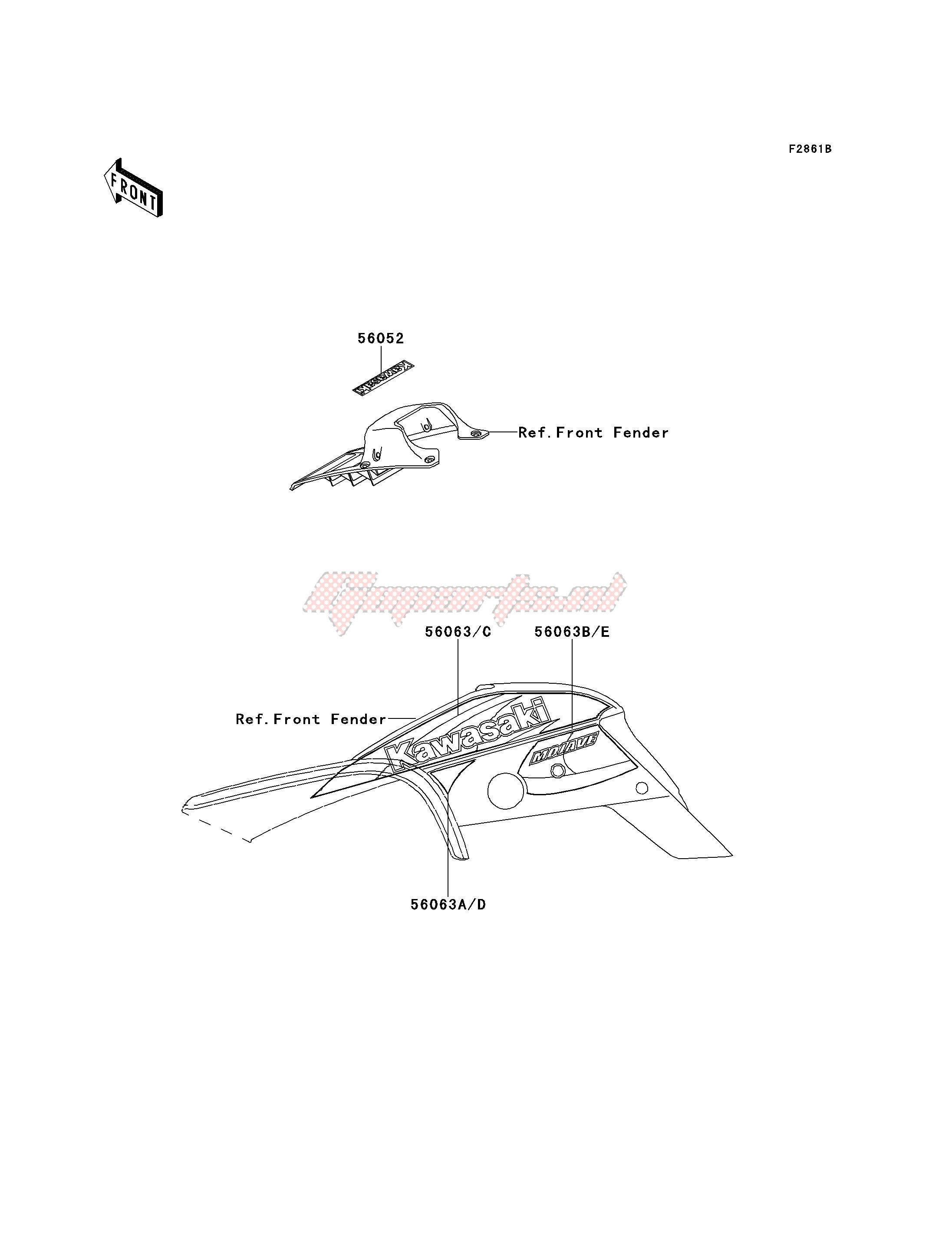 DECALS-- KSF250-A14- - image