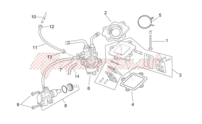 Engine-Carburettor - Oil pump