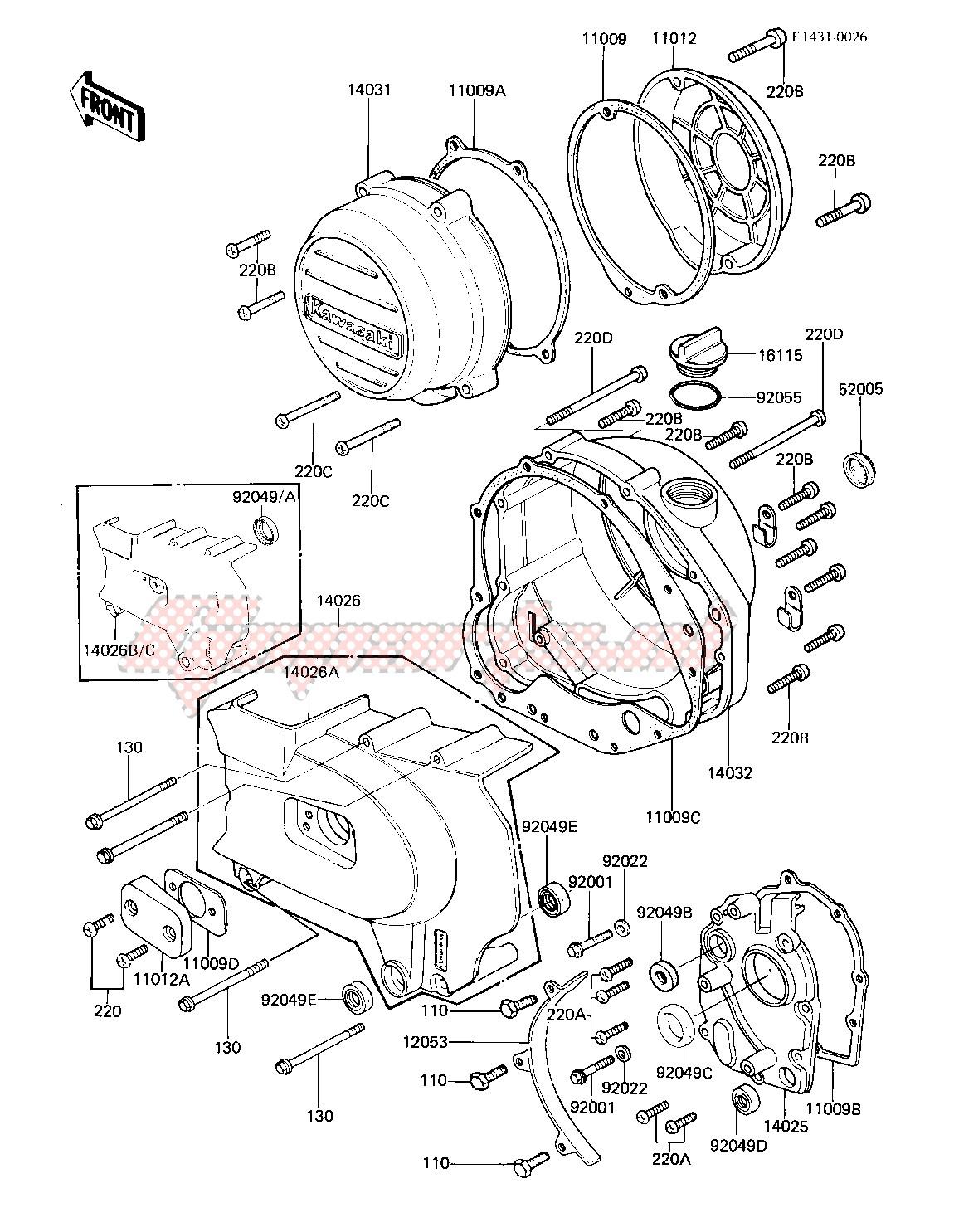 kz750 80 wiring diagram oem engine covers 81 82 kz750 e2 e3  kawasaki  motorcycle  oem engine covers 81 82 kz750 e2 e3