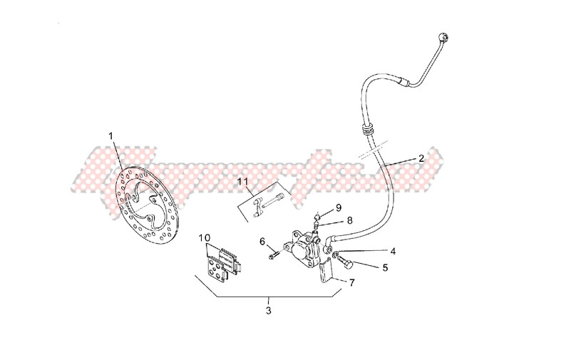 Front brake caliper unit image