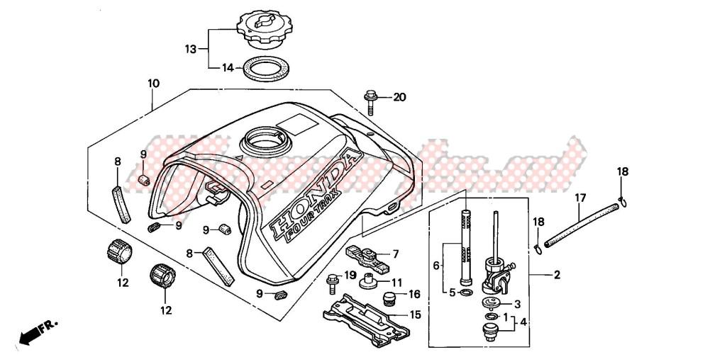 1998 honda rancher wiring diagram oem parts honda  all terrain  trx300fw fourtrax 300 4x4 1998  trx300fw fourtrax 300 4x4
