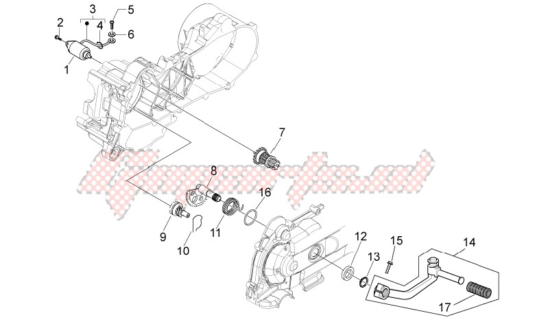 Kick-start gear - starter motor image
