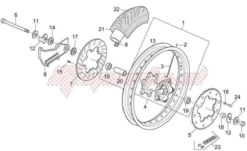Rear wheel - Supermotard image