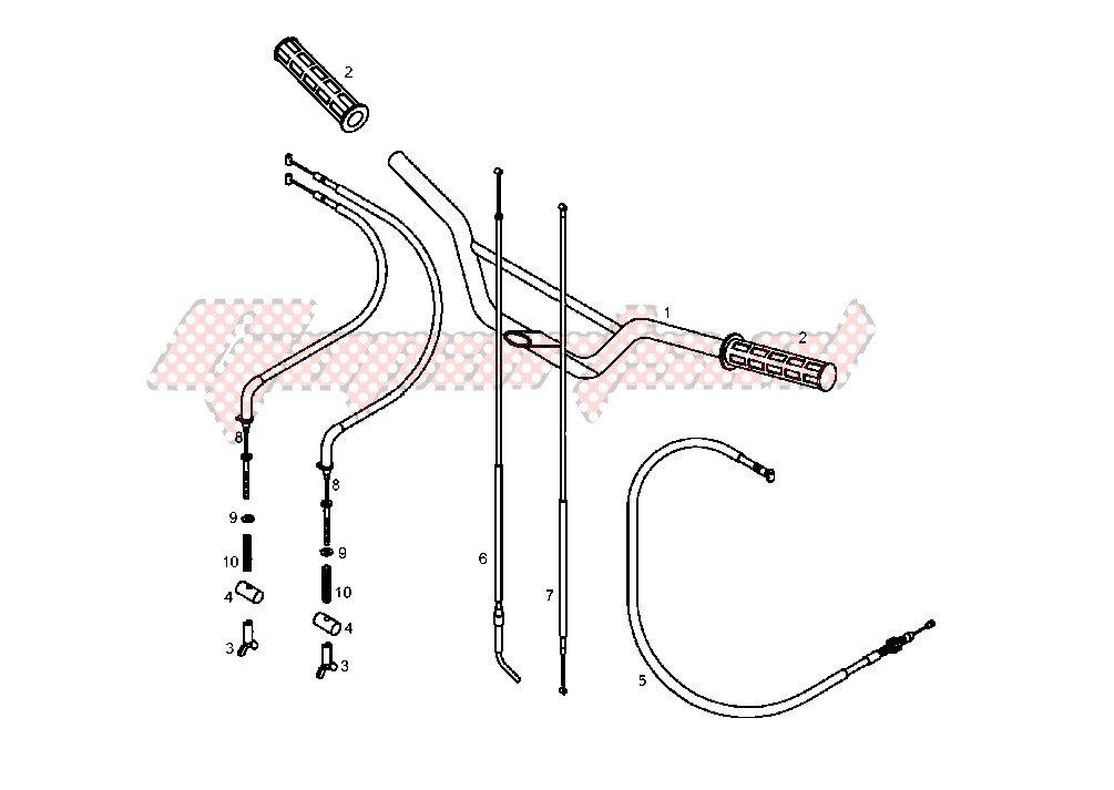STEERING HANDLE, CABLE image