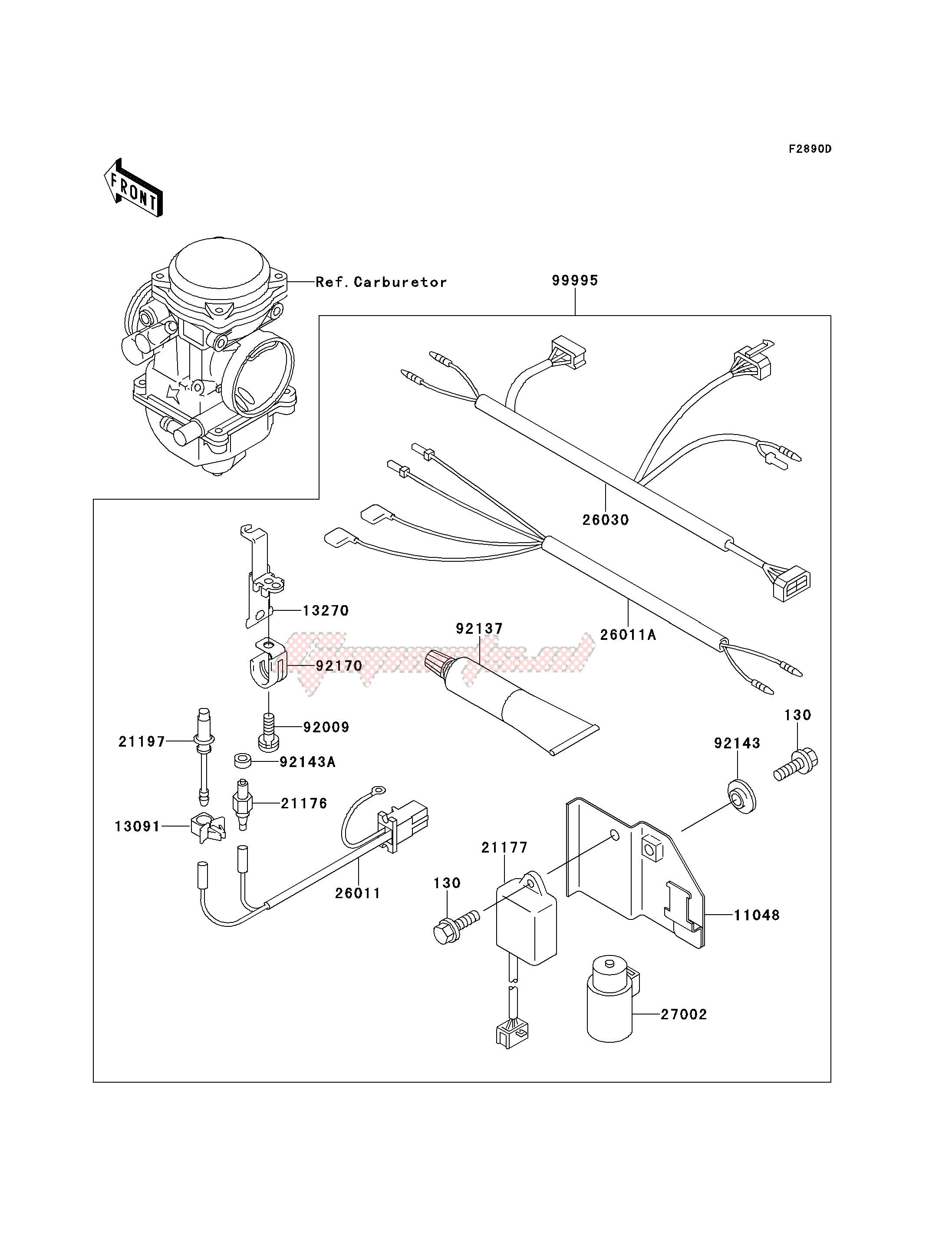 OPTIONAL PARTS-- CARBRETOR- - image