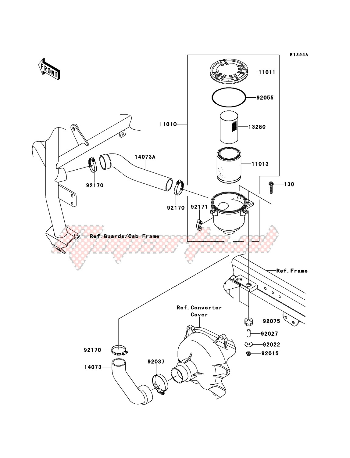 Engine-Air Cleaner-Belt Converter
