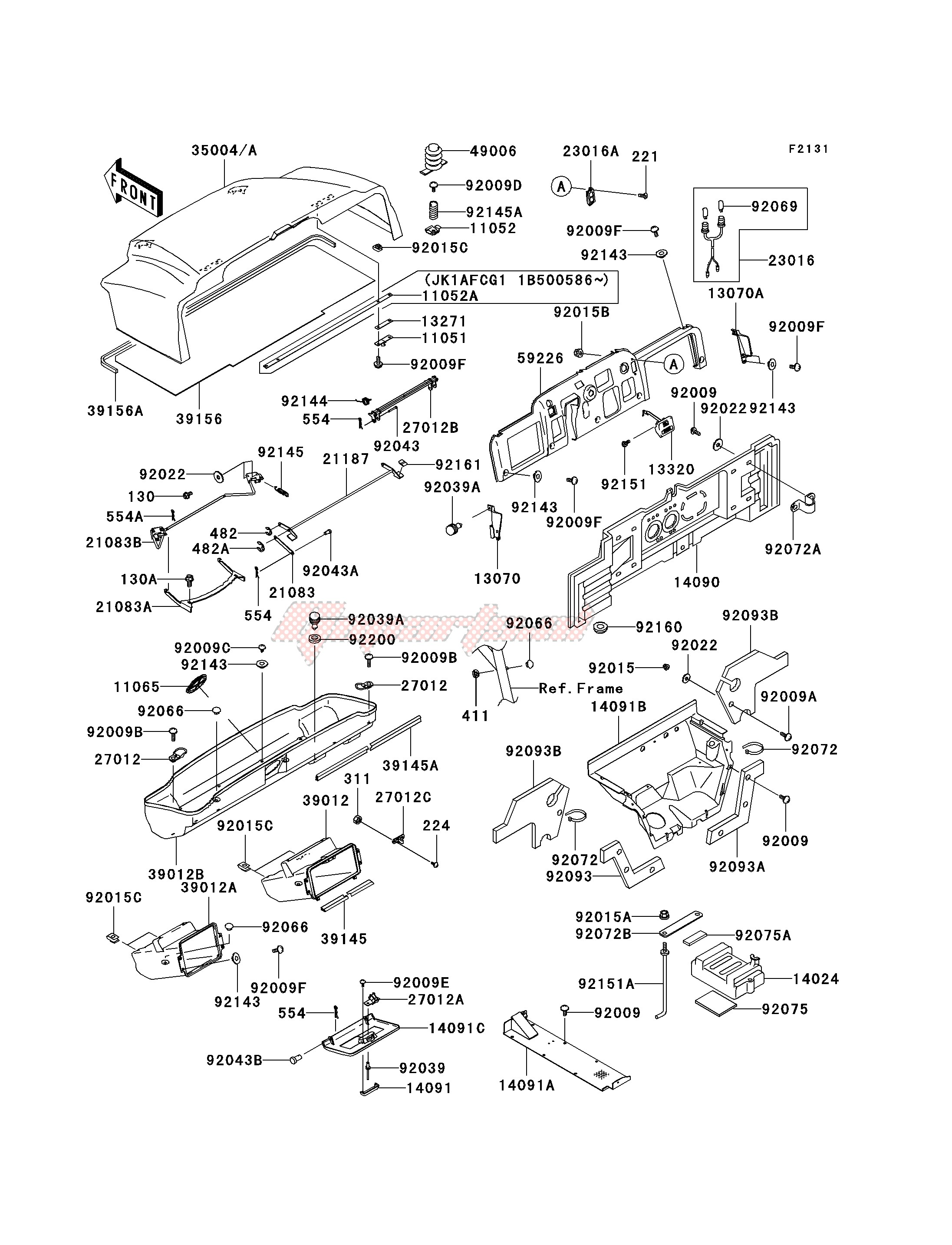 Frame-FRAME FITTINGS -- KAF620-G1- -