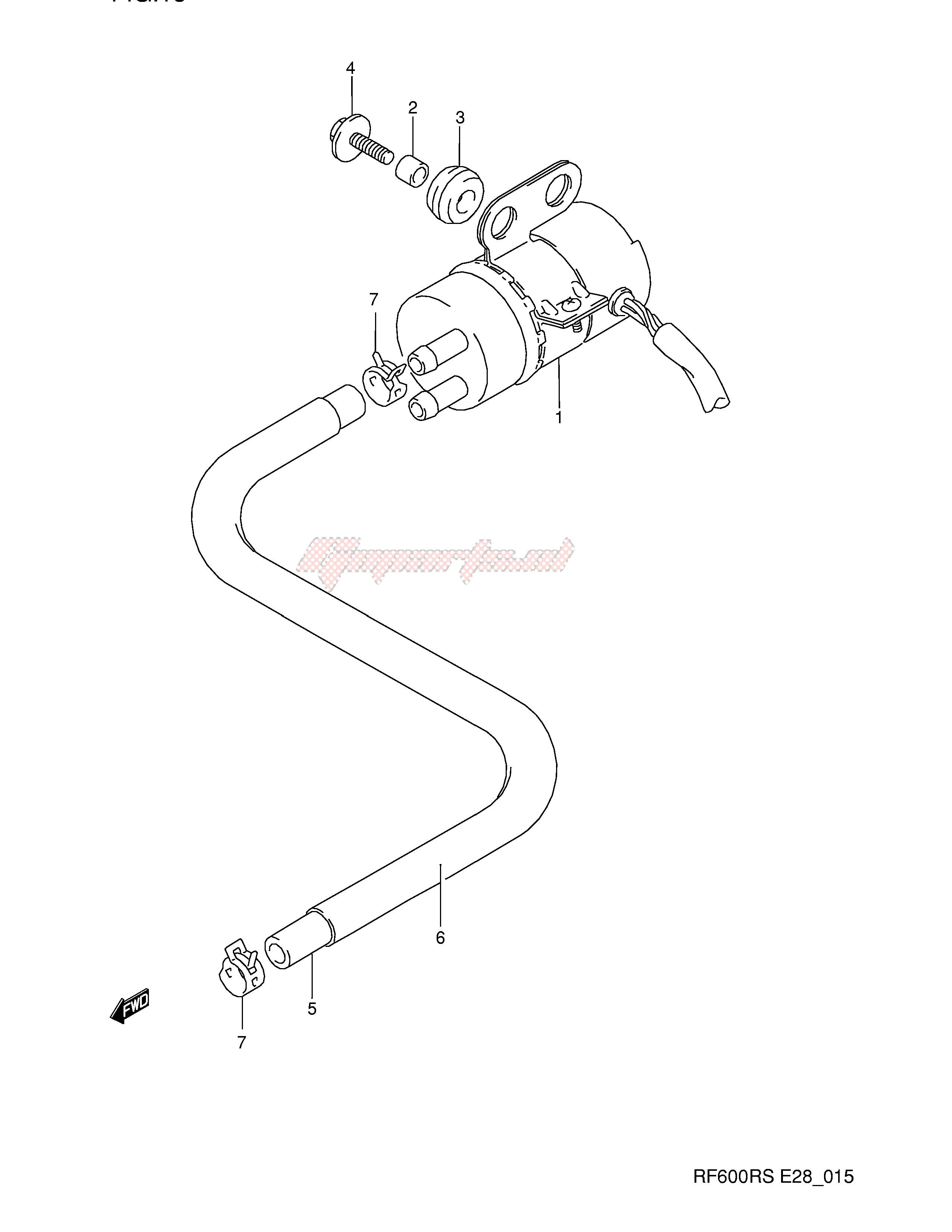 1995 Suzuki Rf600R Fuel Pump Wiring from goparts.eu