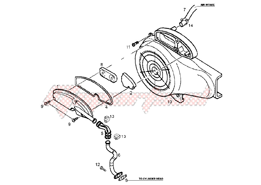 SECONDARY AIR SYSTEM 50CC image
