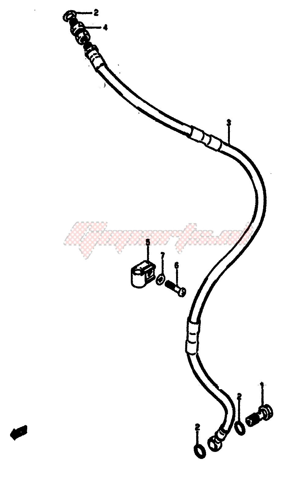 FRONT BRAKE HOSE (MODEL F) blueprint