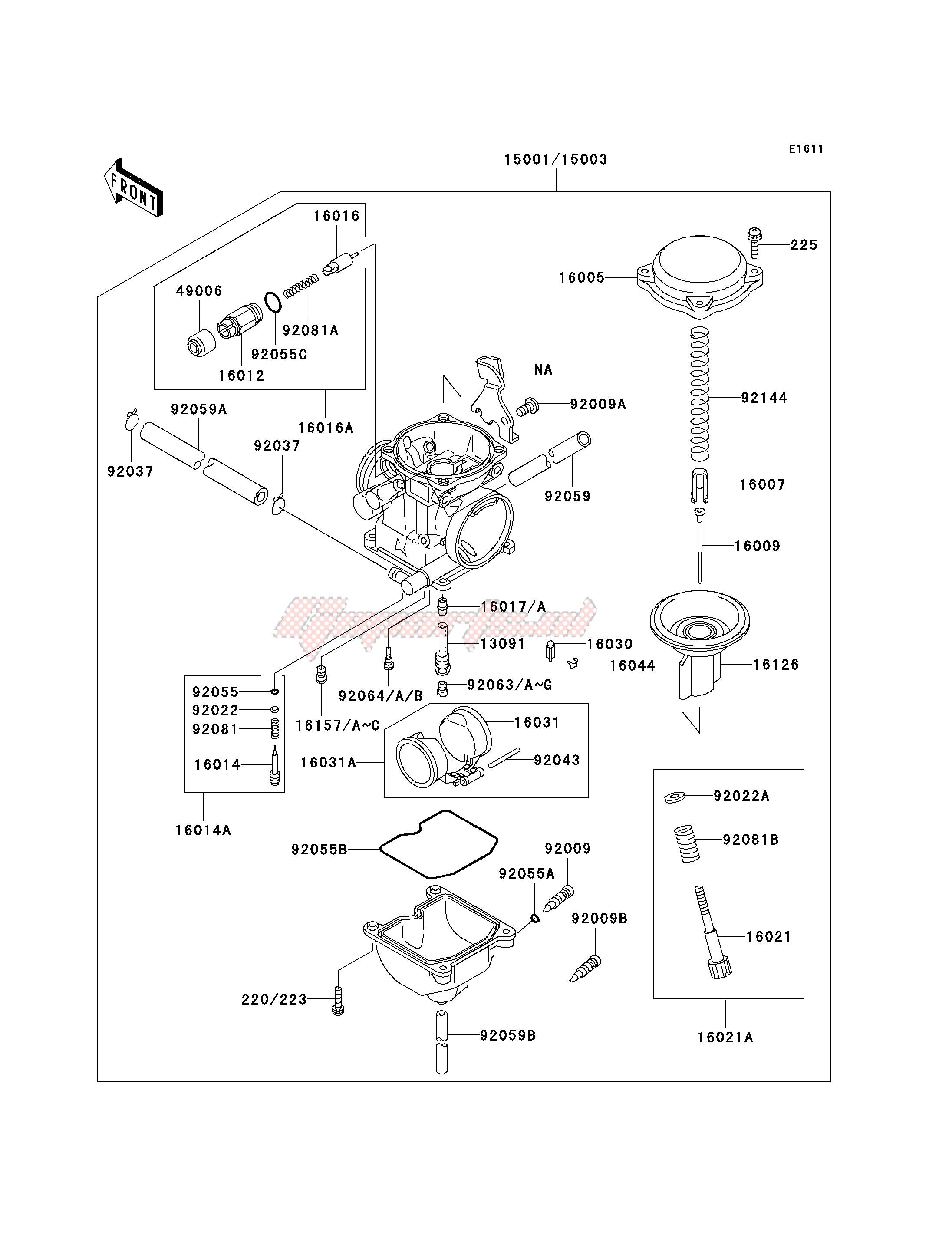 CARBURETOR -- KSF250-A15_A16- - image