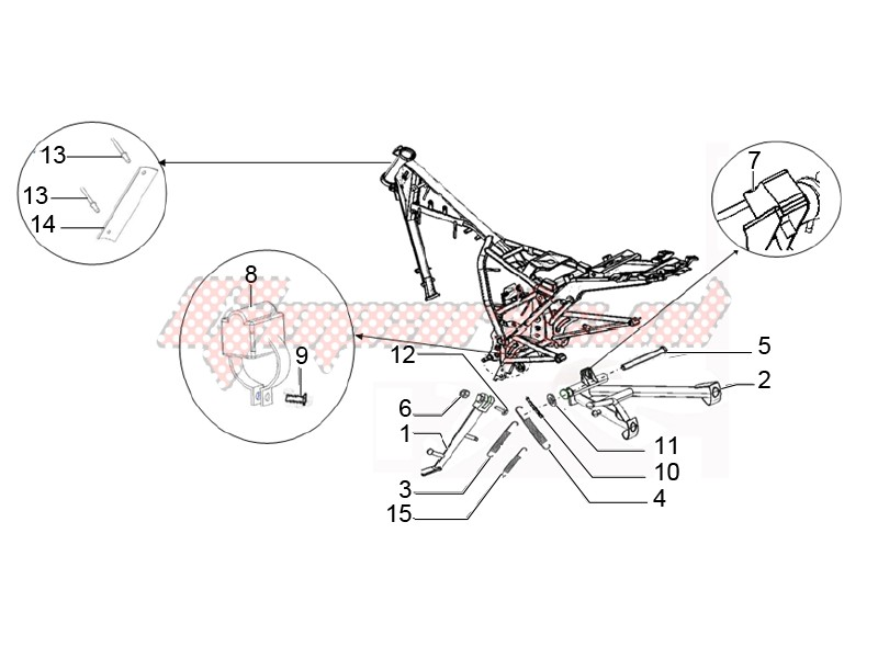 Center stand and side stand image