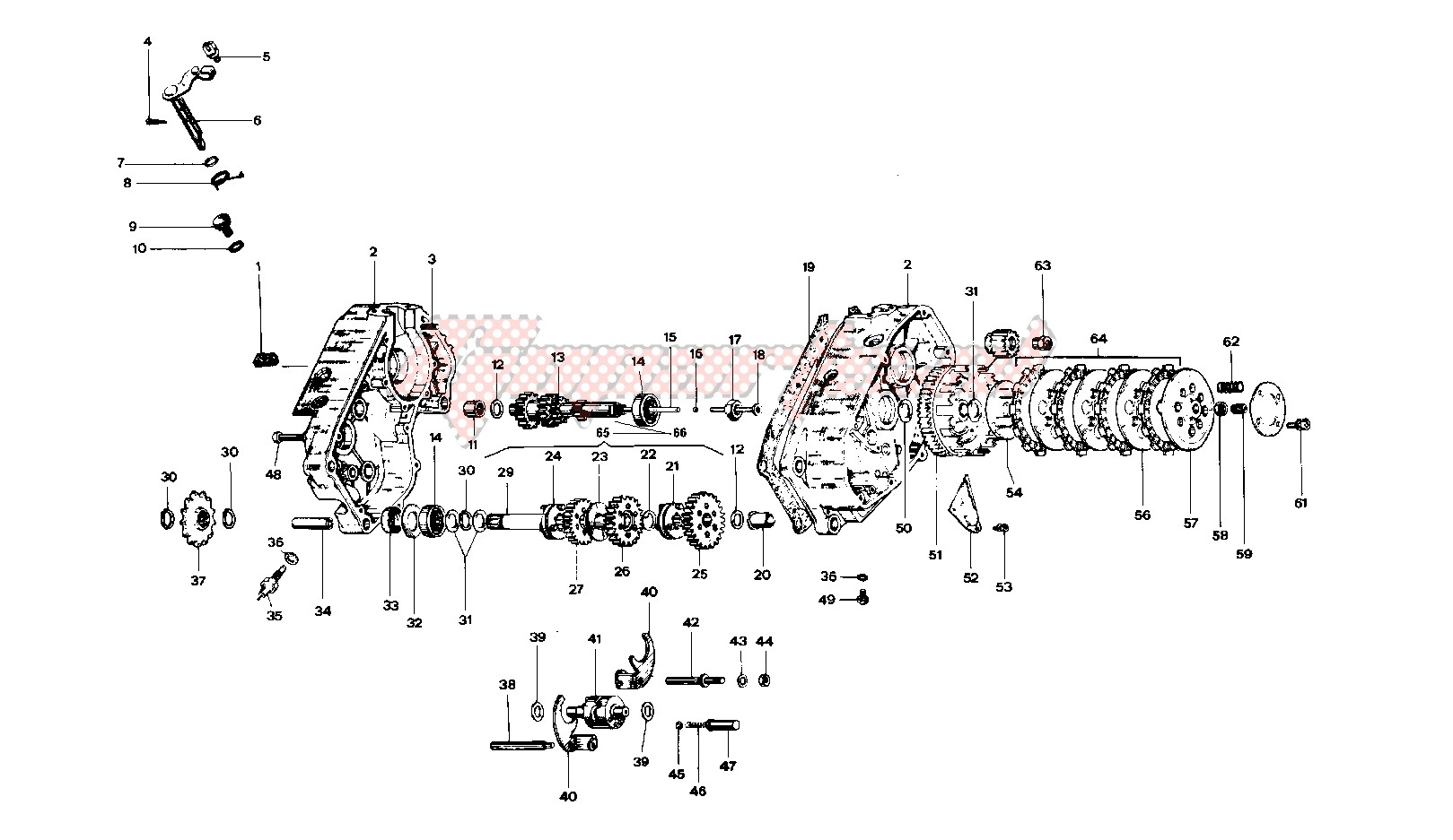 Crankcase - clutch - transmission image