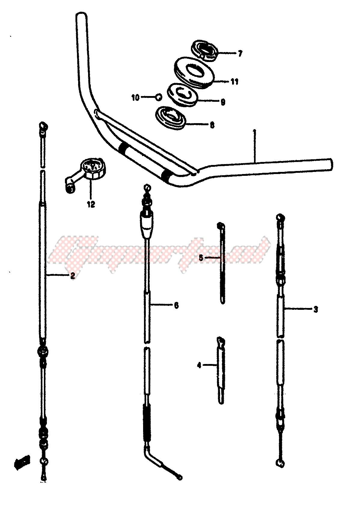 HANDLEBAR (MODEL E) blueprint