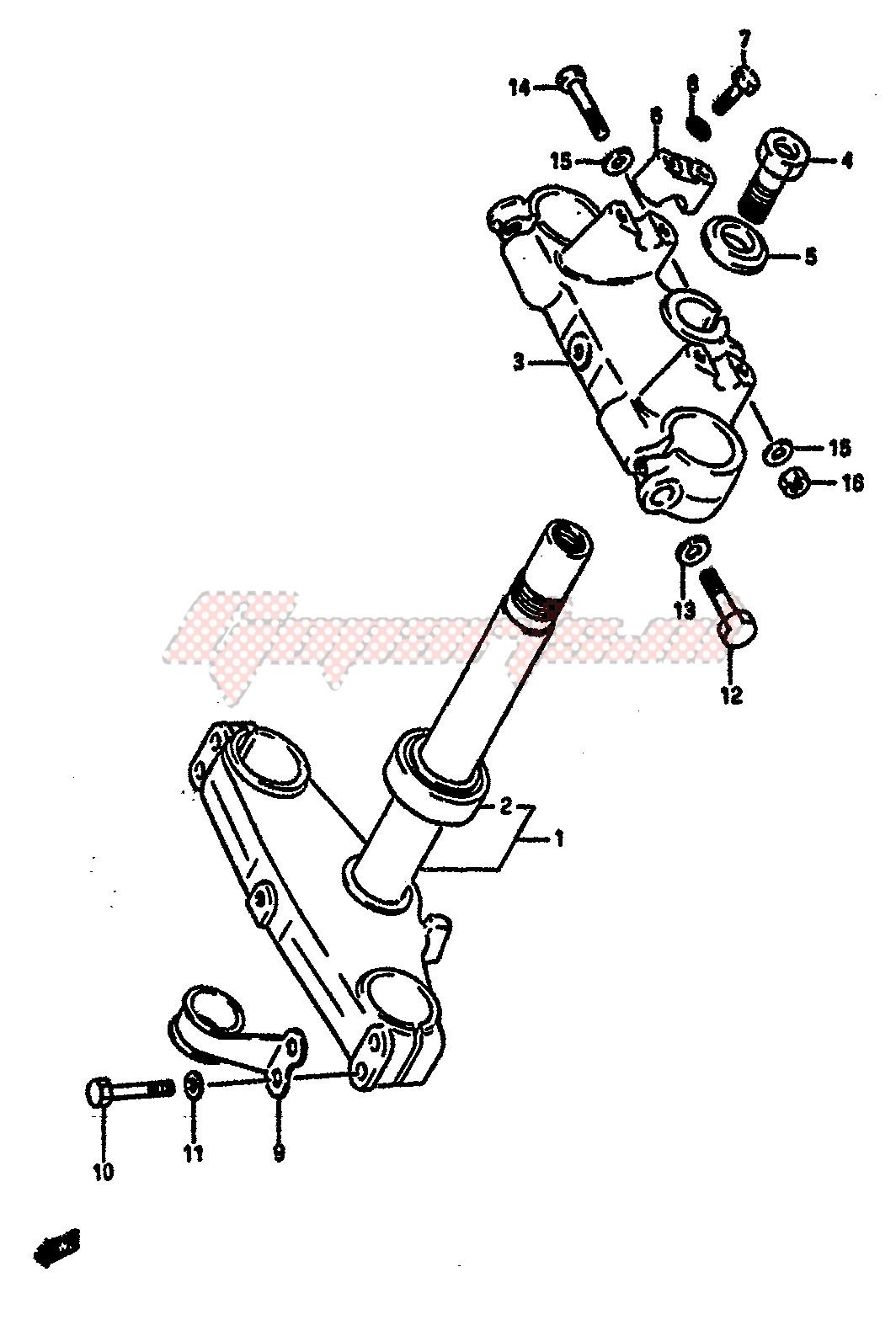 STEERING STEM (MODEL F) image