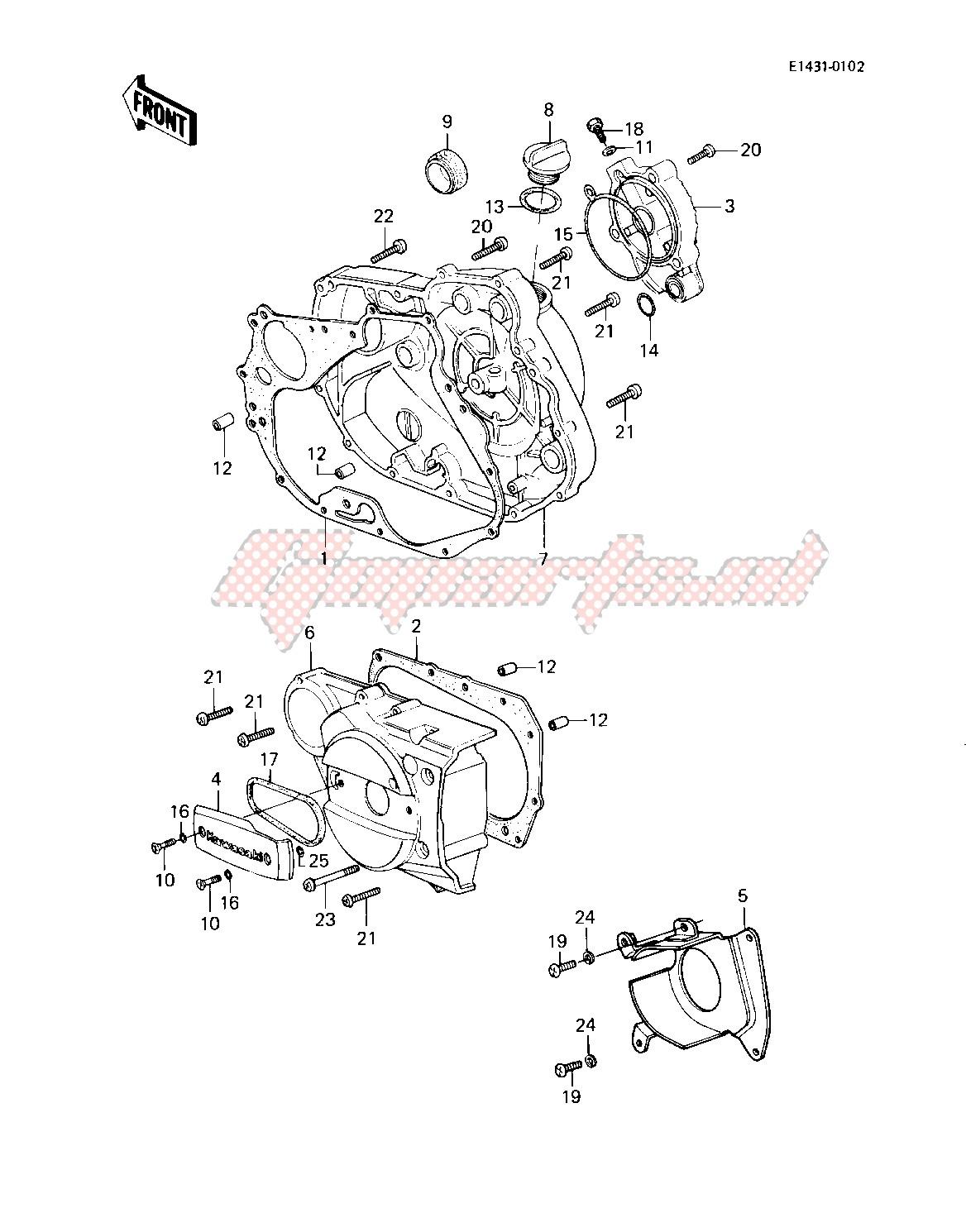 ENGINE COVERS -- 83 KLT200-C1- - image