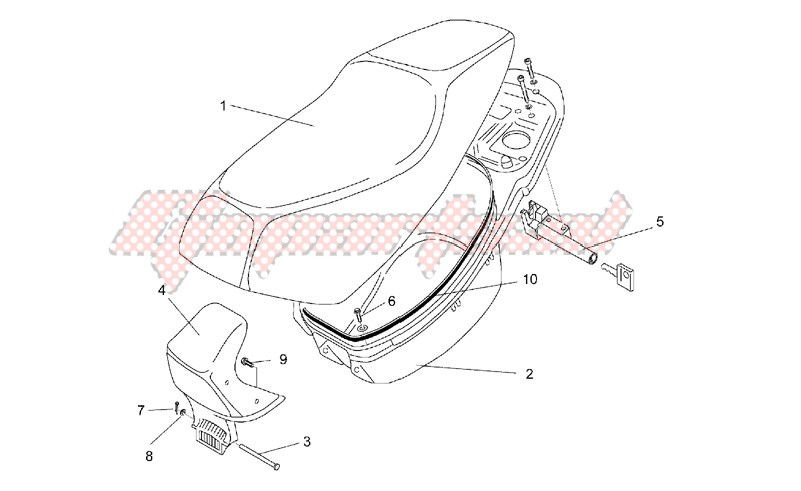 Saddle and helmet compartment image
