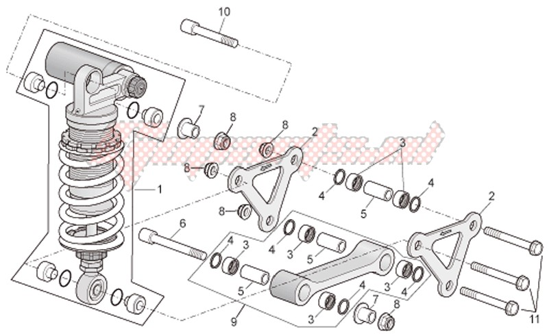 Connecting rod - Rear shock absorber image